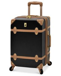"London Fog - Multicolor Retro 20"" Carry On Expandable Spinner Suitcase for Men - Lyst"