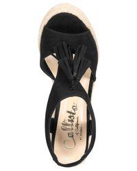 Callisto   Black Edith Espadrille Platform Wedge Sandals   Lyst