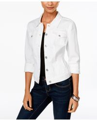 Style & Co. | White Colored Wash Denim Jacket, Only At Macy's | Lyst