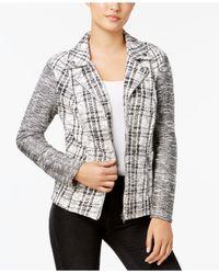 Style & Co. - Multicolor Plus Size Jacquard Plaid Jacket - Lyst