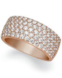 Arabella | Pink Sterling Silver Ring, Swarovski Zirconia Pave Band | Lyst