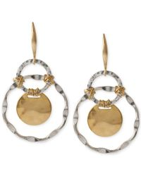 Robert Lee Morris - Metallic Two-tone Wire-wrapped Orbital Circle Drop Earrings - Lyst