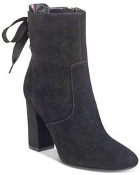 Tommy Hilfiger - Black Divah Lace-up Booties - Lyst