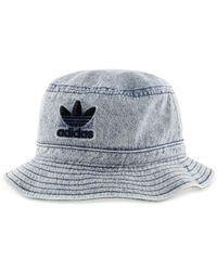 Adidas - Blue Originals Denim Bucket Hat for Men - Lyst
