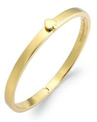 kate spade new york | Metallic Bracelet, 12k Gold-plated Spade Hinged Thin Bangle Bracelet | Lyst