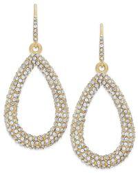 ABS By Allen Schwartz | Metallic Earrings, Gold-tone Pave Crystal Teardrop Earrings | Lyst