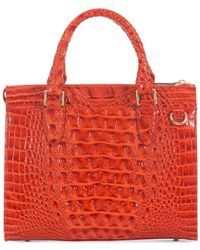 Brahmin - Red Melbourne Anywhere Satchel, Created For Macy's - Lyst