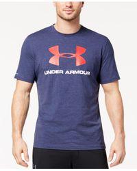 Under Armour - Blue Sportstyle Logo T-shirt for Men - Lyst