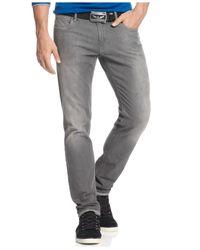 Armani Jeans   Gray Denim, Slim Fit Denim Comfort Stretch Jeans for Men   Lyst