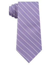 DKNY - Purple Stripe Slim Tie for Men - Lyst