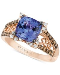 Le Vian   Red Tanzanite (2 Ct. T.w.) And Diamond (3/8 Ct. T.w.) Ring In 14k Rose Gold   Lyst