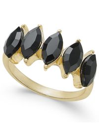 INC International Concepts | Black Gold-tone Marquise Stone Ring | Lyst