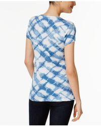 Style & Co. - Blue Cotton Printed T-shirt - Lyst
