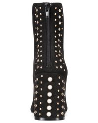 Kensie - Tadyn Studded Ankle Boots, Black Micro - Lyst