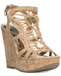Carlos By Carlos Santana - Multicolor Banjo Caged Platform Wedge Sandal - Lyst