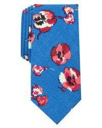 Original Penguin - Blue Edberg Floral Skinny Tie for Men - Lyst