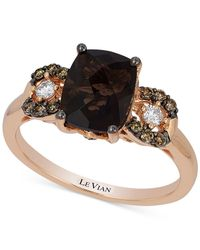 Le Vian - Metallic Chocolate Quartz (1-9/10 Ct. T.w.) And Diamond (1/5 Ct. T.w.) Ring In 14k Rose Gold - Lyst
