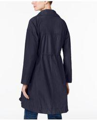 Eileen Fisher - Blue Stand-collar Jacket - Lyst