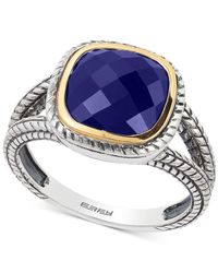 Effy Collection - Metallic Lapis Lazuli Ring (2-3/4 Ct. T.w.) In Sterling Silver And 18k Gold - Lyst