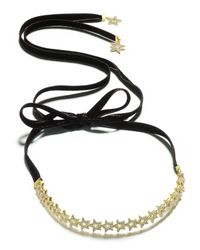 Kate Spade - Metallic Gold-tone Crystal Star Ribbon Choker Necklace - Lyst