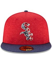 KTZ - Red Chicago White Sox Authentic Collection Stars & Stripes 59fifty Cap for Men - Lyst