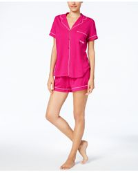Kate Spade | Pink Piping-trimmed Top And Shorts Pajama Set | Lyst