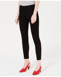 Maison Jules - Black Flocked Plaid Pants, Created For Macy's - Lyst