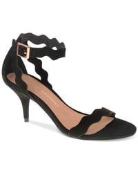 Chinese Laundry - Black Rosie Two-piece Scalloped Dress Sandals - Lyst