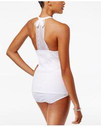 Betsey Johnson White Bridal Lace T-back Pajama Tank Top