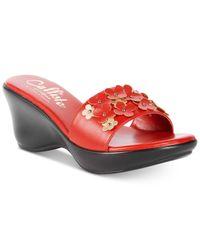 Callisto | Red Laylee Slide Wedge Sandals | Lyst