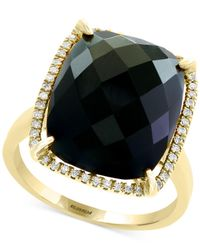 Effy Collection - Metallic Onyx (16 X 13mm) & Diamond (1/8 Ct. T.w.) Ring In 14k Gold - Lyst