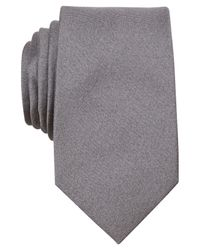 Perry Ellis | Gray Dolby Solid Slim Tie for Men | Lyst