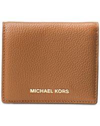 Michael Kors - Brown Mercer Flap Card Holder for Men - Lyst