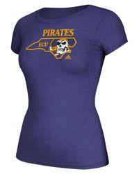 Adidas Purple Women's Clipped State T-shirt