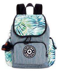 Kipling - Blue Printed City Pack X-small Denim Backpack - Lyst