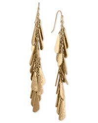RACHEL Rachel Roy - Metallic Gold-tone Shaky Charm Linear Drop Earrings - Lyst