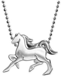 Alex Woo - Metallic Little Horse Zodiac Pendant Necklace In Sterling Silver - Lyst