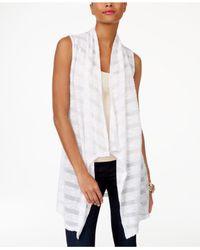INC International Concepts - White Illusion-stripe Vest - Lyst