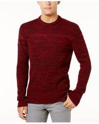 American Rag - Red Men's Marl-knit Sweater for Men - Lyst