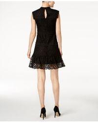 Julia Jordan - Black Lace A-line Dress - Lyst