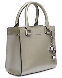 Calvin Klein - Metallic Logan Crossbody - Lyst
