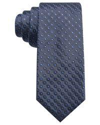 Alfani - Blue Men's Dot Slim Silk Tie for Men - Lyst