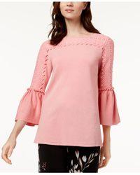 Alfani Pink Bell-sleeve Sweater