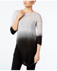 Vince Camuto - Gray Dip-dyed Asymmertical-hem Sweater - Lyst