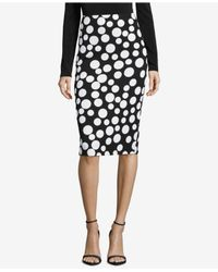 Eci - Black Printed Pencil Skirt - Lyst