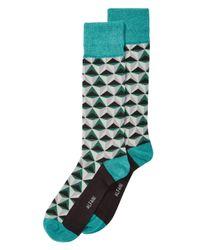 Alfani - Green Triangles Dress Socks, Created For Macy's for Men - Lyst