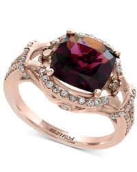 Effy Collection - Metallic Rhodolite Garnet (3-3/8 Ct. T.w.) And Diamond (1/2 Ct. T.w.) Ring In 14k Rose Gold - Lyst