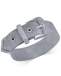 Macy's - Metallic Diamond Buckle Bracelet (1-1/4 Ct. T.w.) In Sterling Silver - Lyst