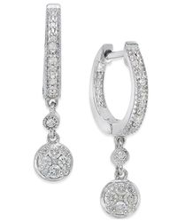 Macy's - Metallic Diamond (1/4 Ct. T.w.) Dangle Earrings In Sterling Silver - Lyst