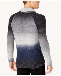 INC International Concepts - Blue Men's Ombré Shawl-collar Sweater for Men - Lyst